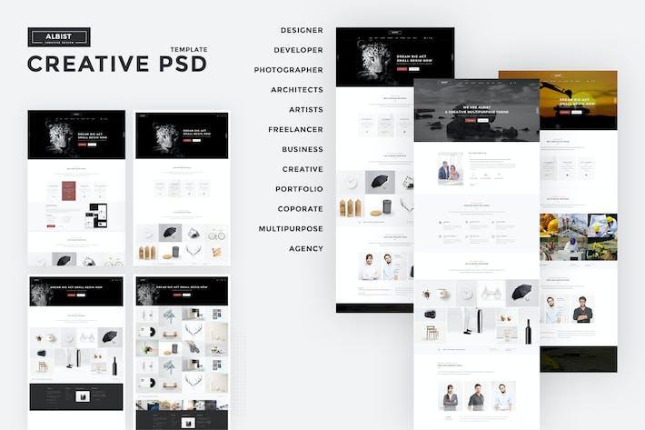 Thumbnail for ALBIST - Creative PSD Template