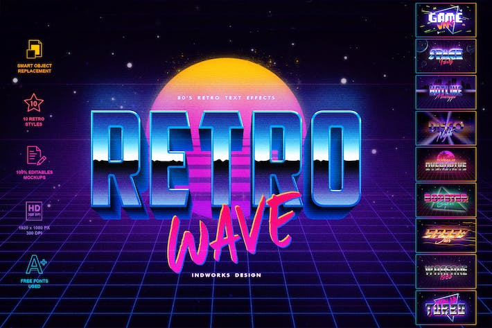 Thumbnail for 80's Retro Text Effects vol.1