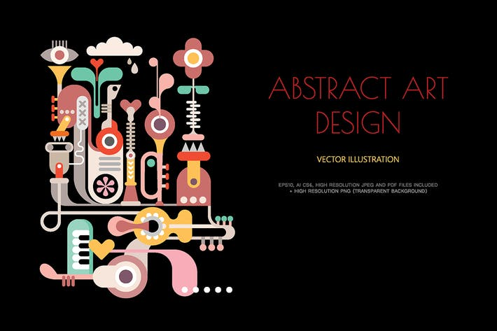 Thumbnail for Abstract Art Design vector artwork