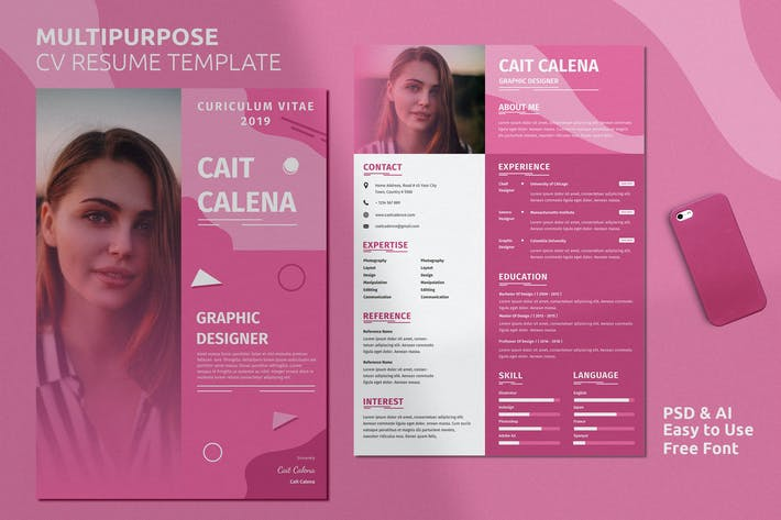 Thumbnail for Resume Template Vol. 21