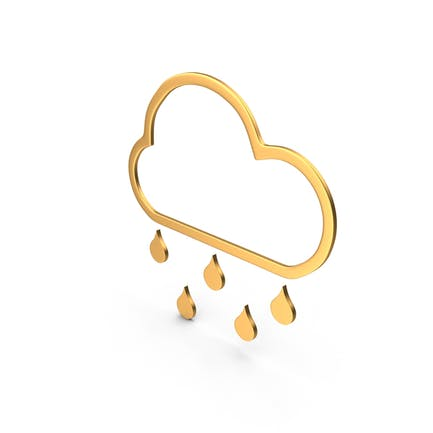 Rain Symbol Gold