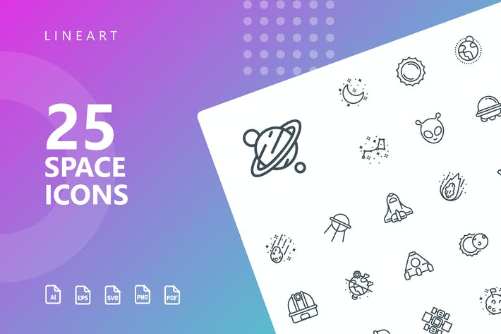 Thumbnail for Space Line Icons