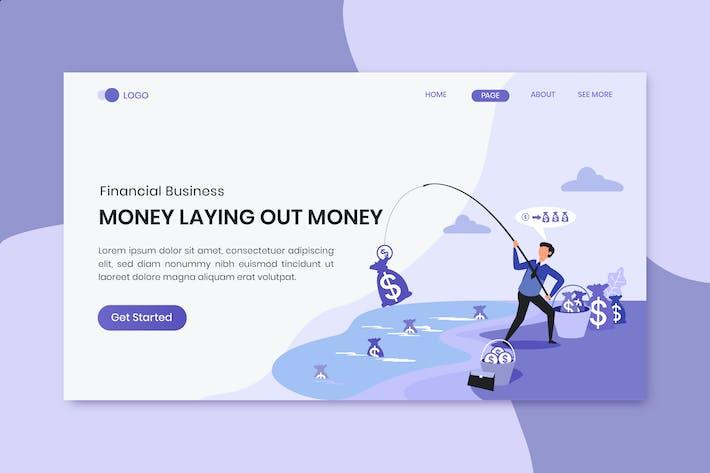 Thumbnail for Ganar dinero de negocios financieros aterrizaje de marketing