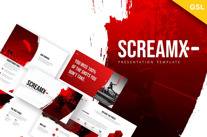 Thumbnail for ScreamX - Brush Google Slides Template