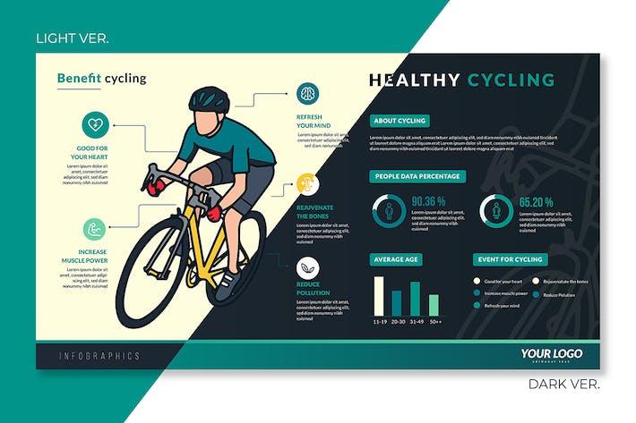 Thumbnail for Conseils de sécurité infographiques préfabriqués pour les cyclistes