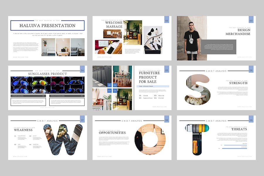 Haluiva : Pitch Deck Powerpoint Template