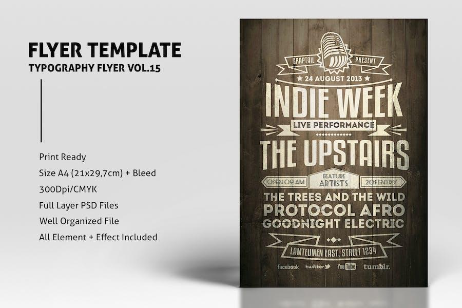Typography Flyer Vol.15