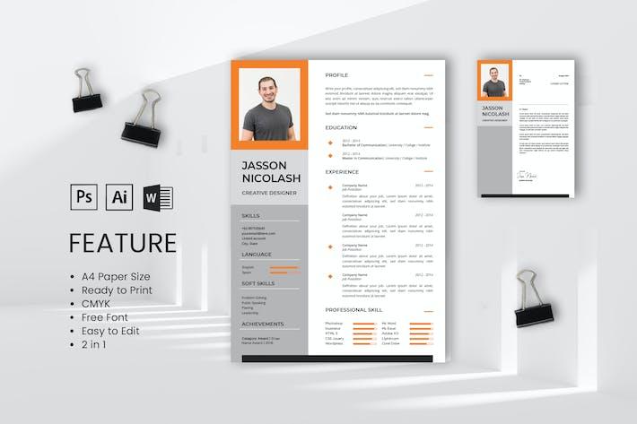 Thumbnail for Professional CV And Resume Jasson Nicolash