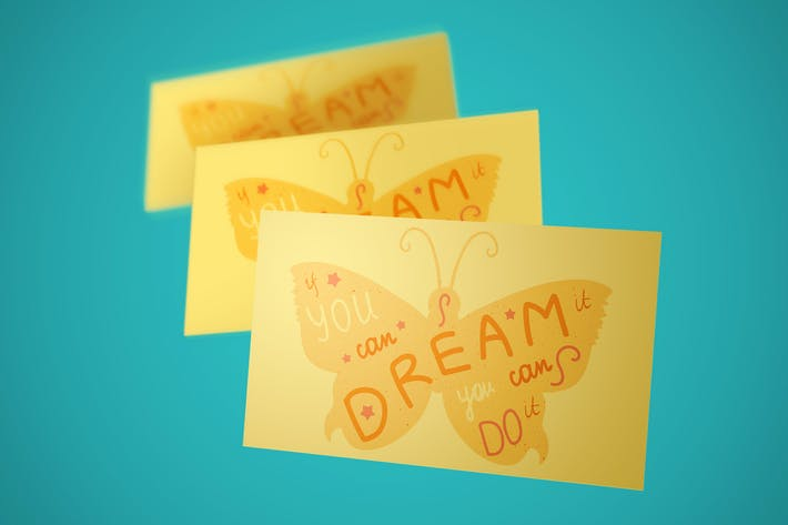 Thumbnail for Motivation Lettering In Butterfly