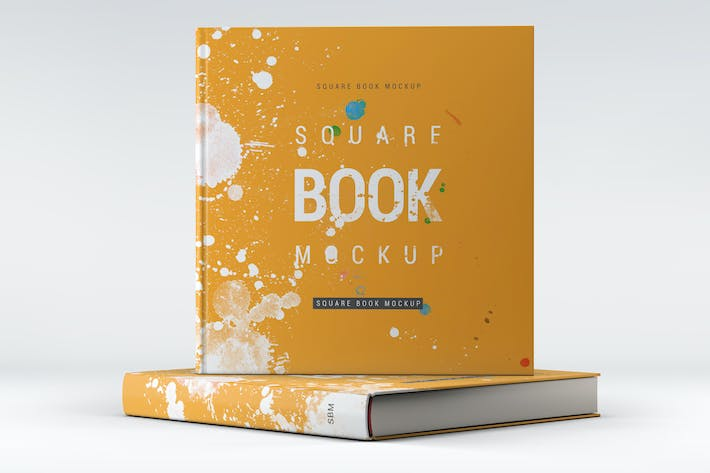 square book mock up by l5design on envato elements