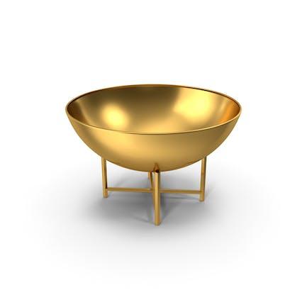 Iron Fire Bowl Gold