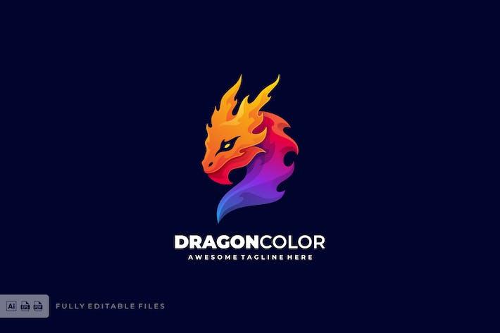 Thumbnail for Dragon Color Gradient Logo template