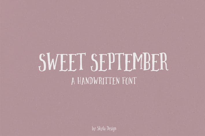 Thumbnail for Sweet September script serif with clipart