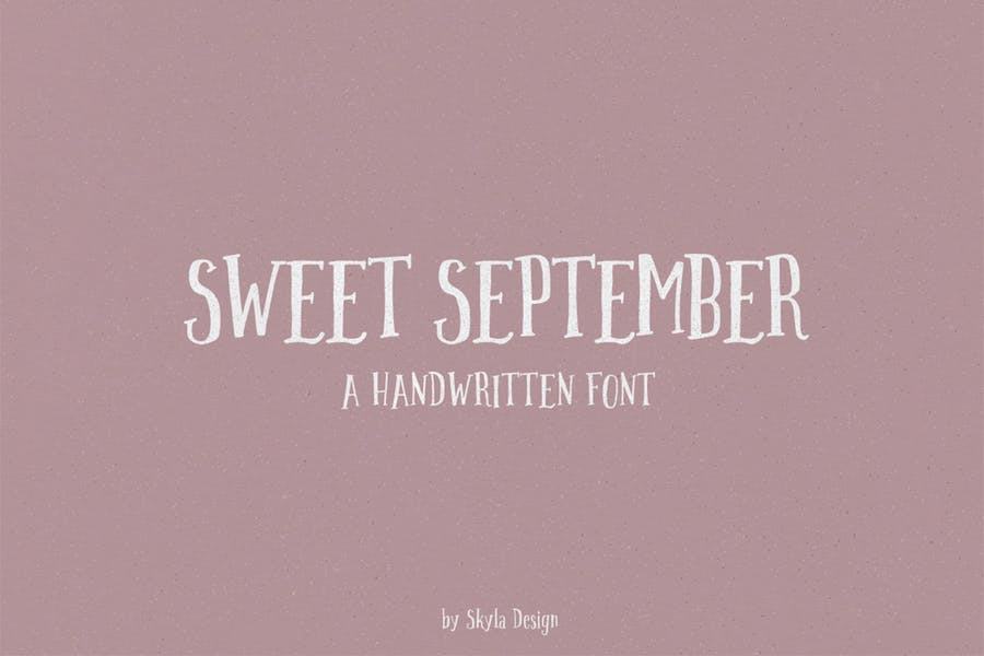 Sweet September script serif with clipart