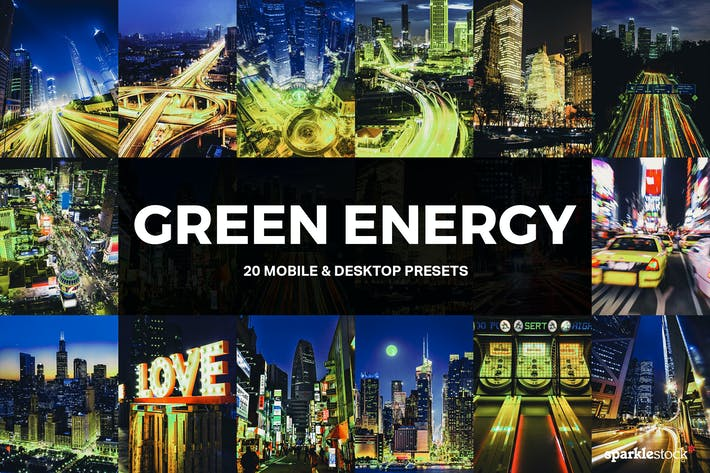Thumbnail for 20 Green Energy Lightroom Presets and LUTs
