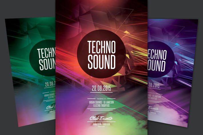 Thumbnail for Techno Sound Flyer