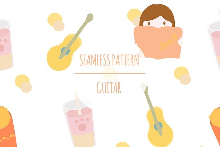 Guitar – Seamless Pattern