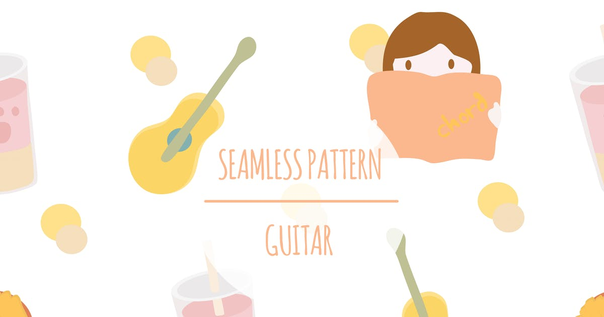 Download Guitar – Seamless Pattern by designesto