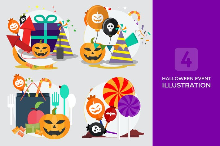 Thumbnail for Halloween-Event - Vektor illustration