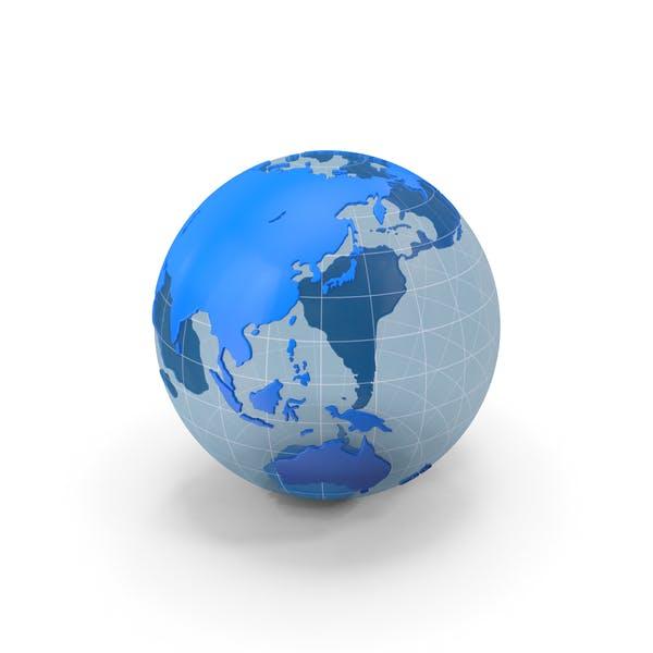Globe Blau und Weiß