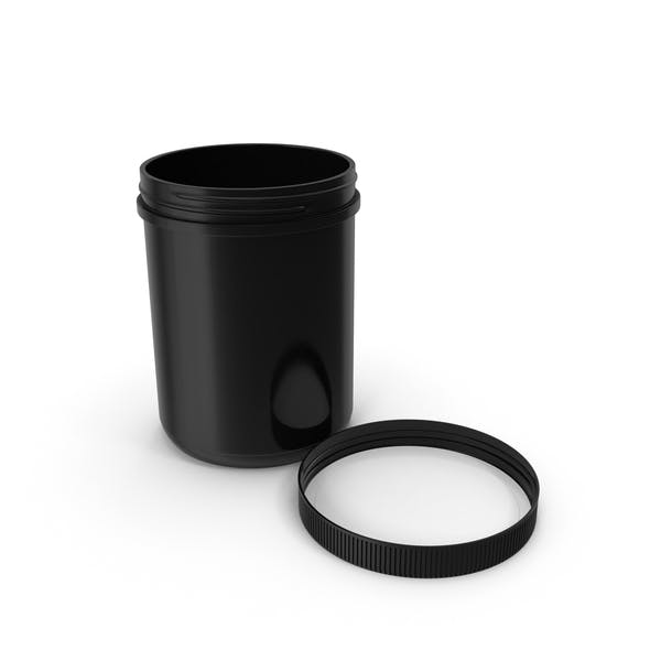 60oz Plastic Wide Mouth Jar