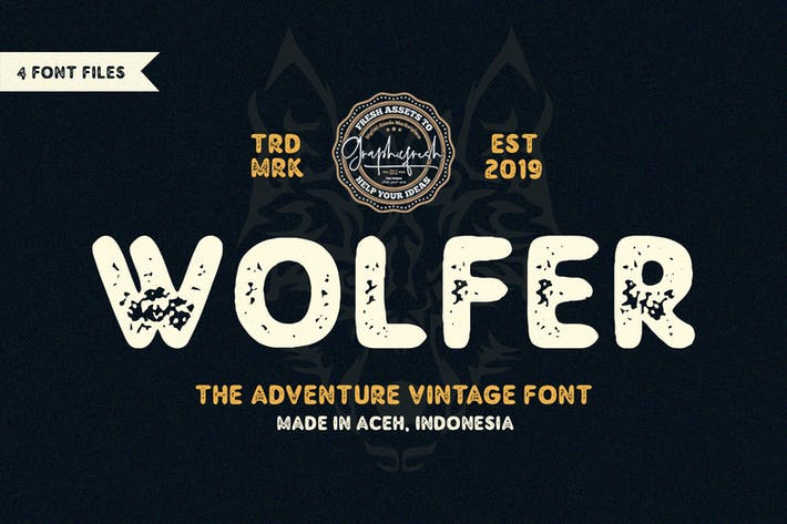 Thumbnail for Wolfer | The Aventura Vintage Font