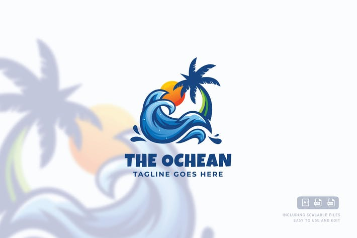 Thumbnail for The Ocean Logo Template