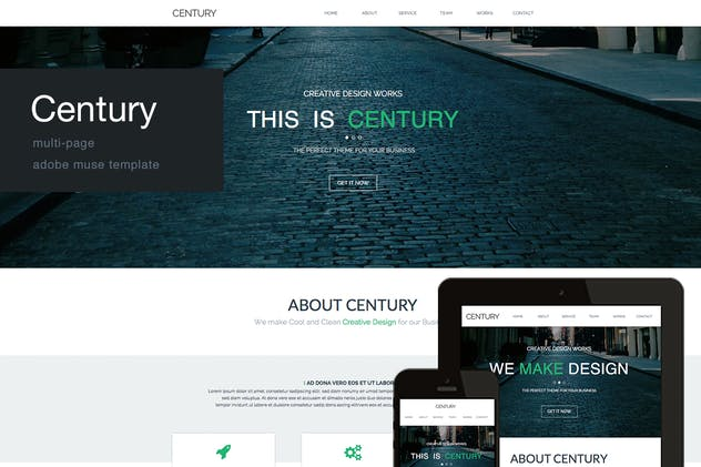 Century - Agency Multi Page Adobe Muse Template - product preview 4