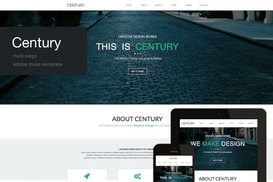 Century - Агентство многостраничный Adobe Muse Шаблон
