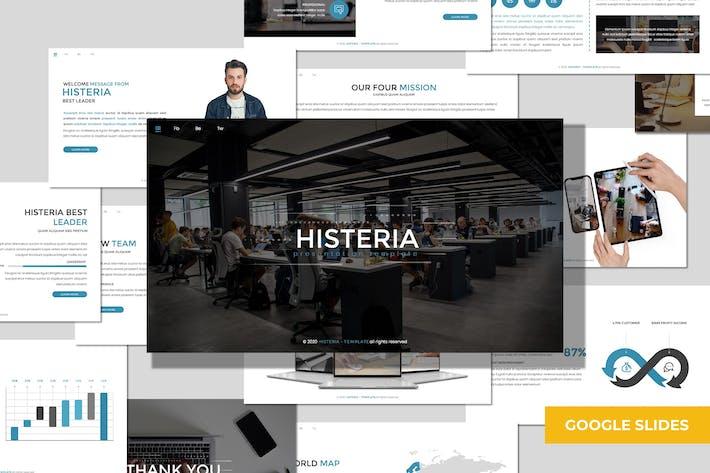 Histeria - Многоцелевой Шаблон слайдов Google