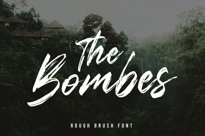 Thumbnail for The Bombes Brush Font