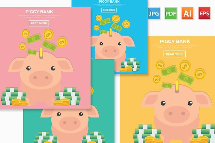 Cover Image For Piggy bank design