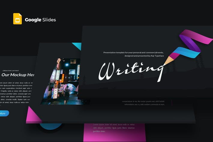 Thumbnail for Writing - Google Slides Template