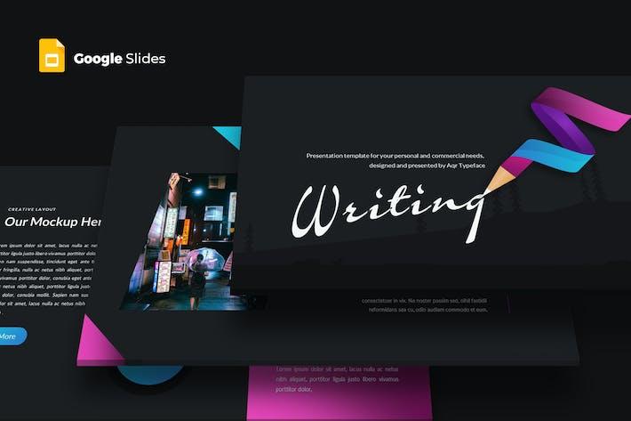 Thumbnail for Writing - Google Slides Template