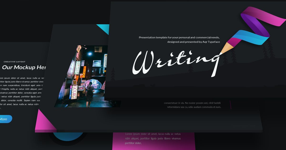 Download Writing - Google Slides Template by aqrstudio