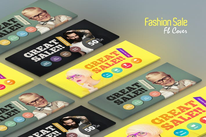 Thumbnail for Fashion Sale Fb Cover Template
