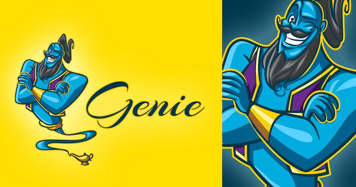Download Cartoon Genie Mascot Logo by Suhandi