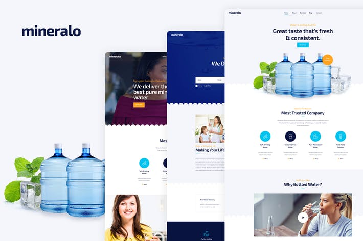 Thumbnail for Mineralo - Bottled Water Delivery Service PSD
