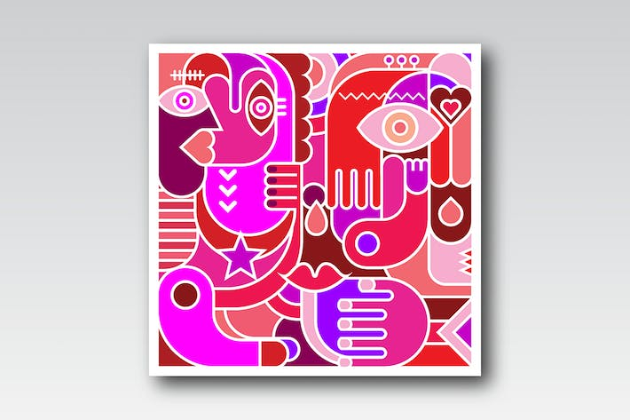 Thumbnail for two options of Abstract Art Vector Illustration