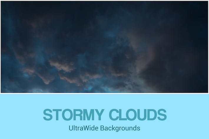 Thumbnail for UltraWide Stormy Clouds Backgrounds