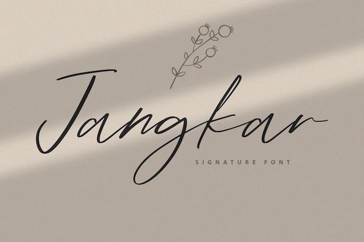 Thumbnail for Jangkar Signature Font