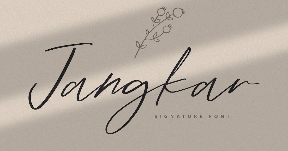 Download Jangkar Signature Font by Graphicfresh