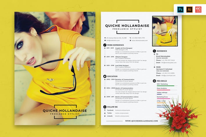Thumbnail for Resume CV Template-72