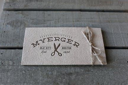 Label mockup vintage letterpress