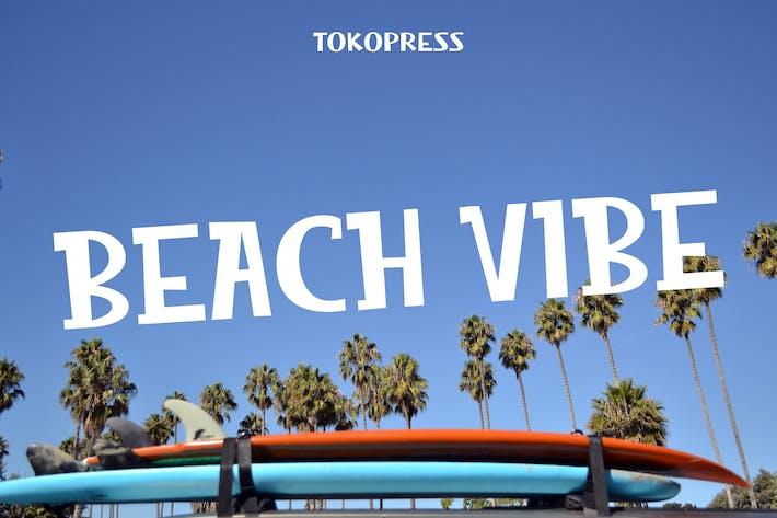 Beach Vibe - Summer font