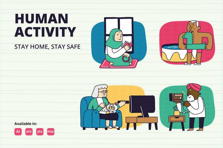 Thumbnail for Elderly activity Stay at Home campaign.