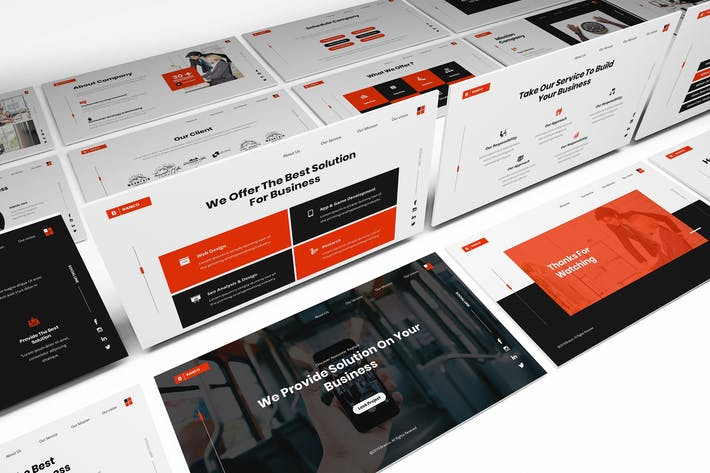 Thumbnail for Branco Business Solution Powerpoint Template
