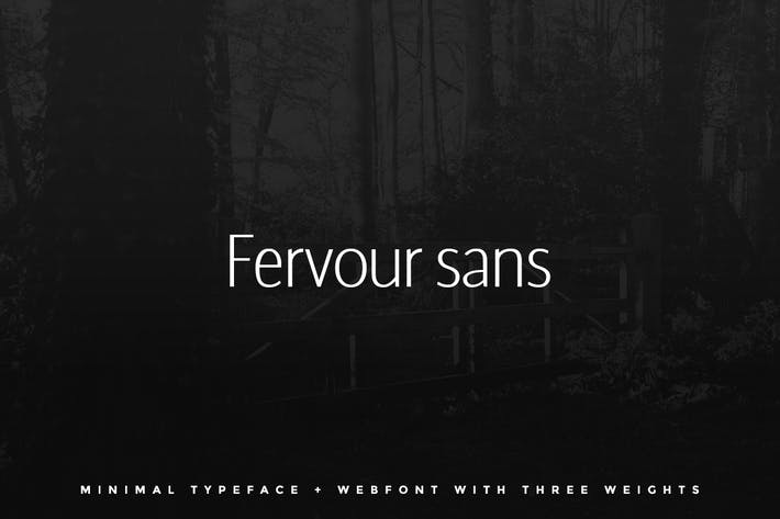 Thumbnail for Fervour Sans Typeface + Web Fonts with 3 Weights