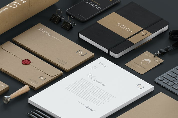 Thumbnail for STATIO: Stationary Corporate Mockup Craft Edition