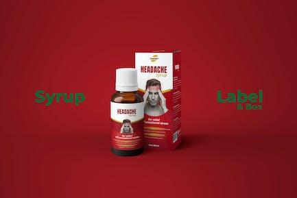 Medicine Syrup Box and Label Design